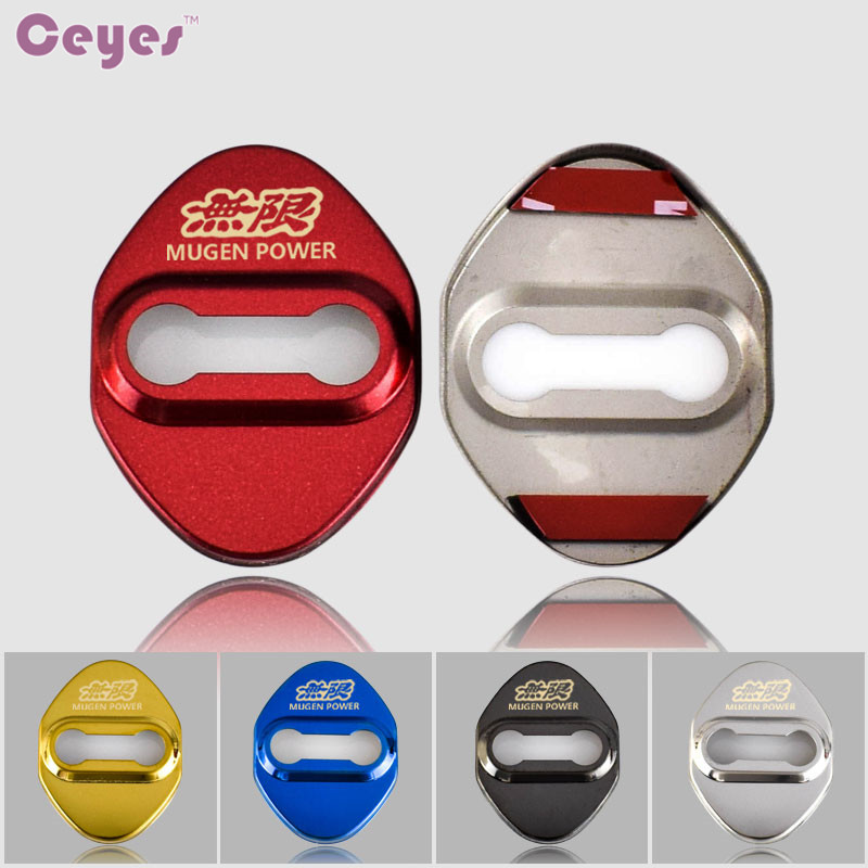 Ceyes Car Styling Fit For Honda Mugen Power For Toyota Corolla Avensis JDM Auto Accessories Car Emblem Stickers Car-Styling 4pcs
