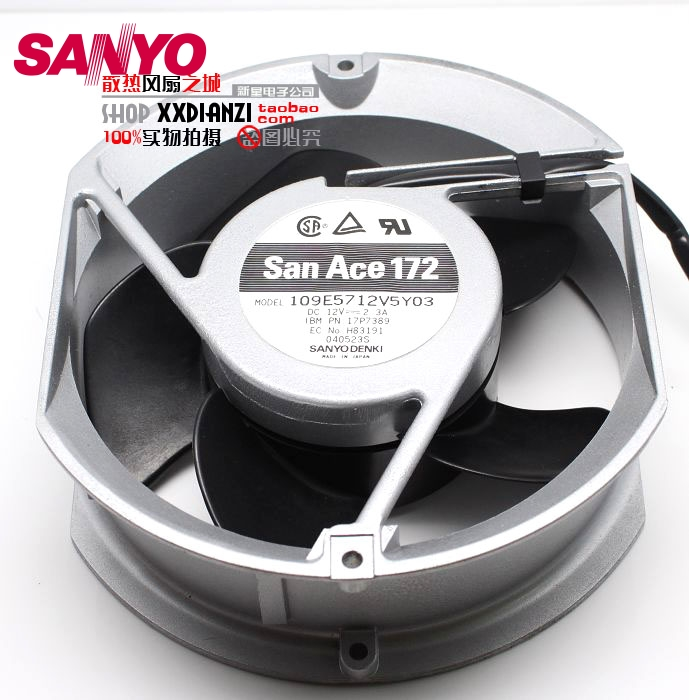 SANYO  109E5712V5Y03 DC 12V2.3A double ball bearing fan support PWM for