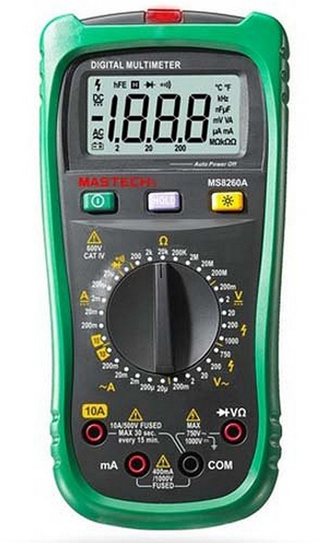 Compteur de résistance de courant de tension ca/cc de multimètre numérique de MASTECH MS8260A
