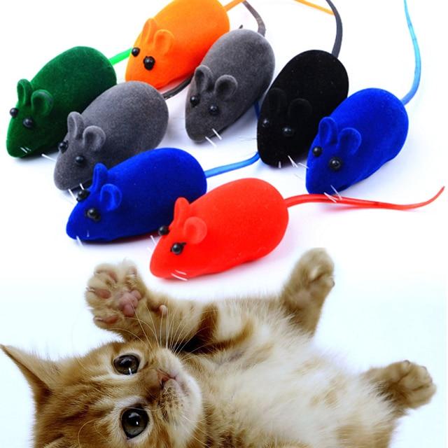 10 pz/set Del Mouse Giocattolo Gatto Squeak Rumore Rat Little Mouse Giocattolo D