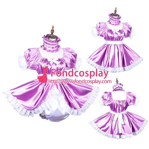fe66c4660 Adult baby satin Romper/dress lockable Unisex tailor made[G3814] on ...