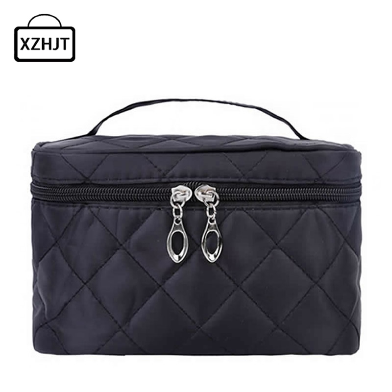 Women Travel Cosmetic Bags Diamond Lattice Zipper Men Makeup Bags Organizer Beauty Toiletry Bag Bath Wash Make Up Kits Case women travel cosmetic bags diamond lattice zipper men makeup bags organizer beauty toiletry bag bath wash make up kits case