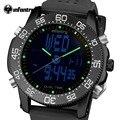 Infantry mens relojes de cuarzo resistente al agua marca de lujo led digital reloj táctico marina correa de caucho reloj de pulsera relogio masculino