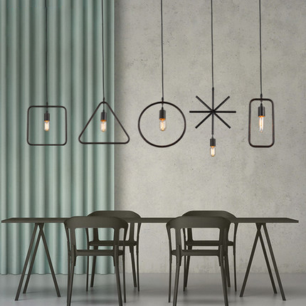 ФОТО American Country Industrial Hanging Lamps Black Metal Vintage Droplight Home Indoor Dining Room Restaurant Cafes Pub Lighting