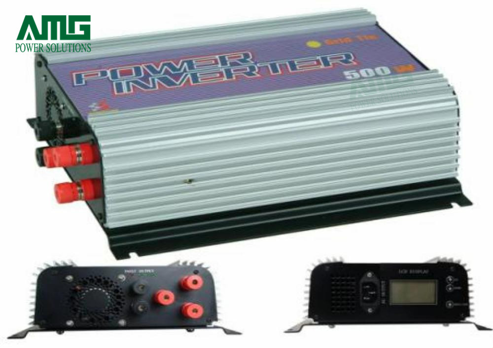 500W MPPT On Grid Tie Wind Turbine Generator Inverter LCD Display Indoor Residential Home Use solar power on grid tie mini 300w inverter with mppt funciton dc 10 8 30v input to ac output no extra shipping fee