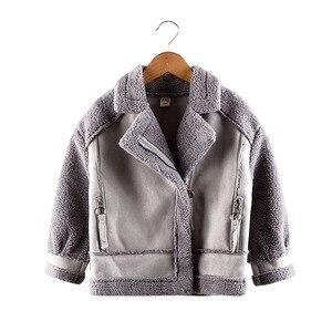 Image 2 - Manteaux et vestes en daim, molleton pour filles, manteaux pour enfants 4 10, taille ancienne, automne et hiver, 9GT018
