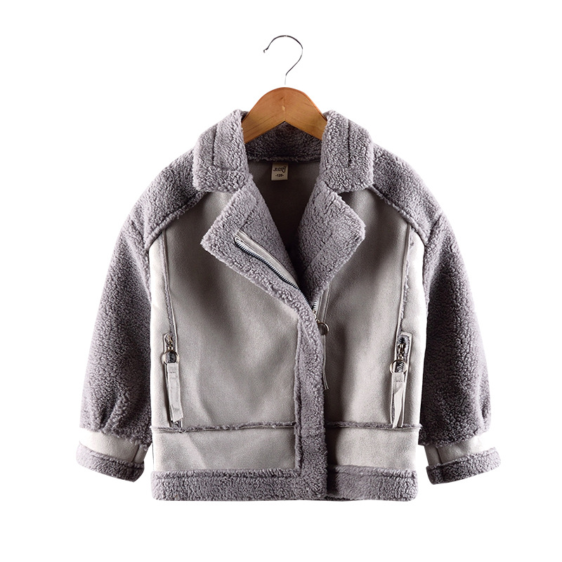 Image 2 - New   Girls Coats And Jackets  Suede Fleece  Kids Coats Fashion 4 10 Old Size  Autumn Winter 9GT018-in Jackets & Coats from Mother & Kids