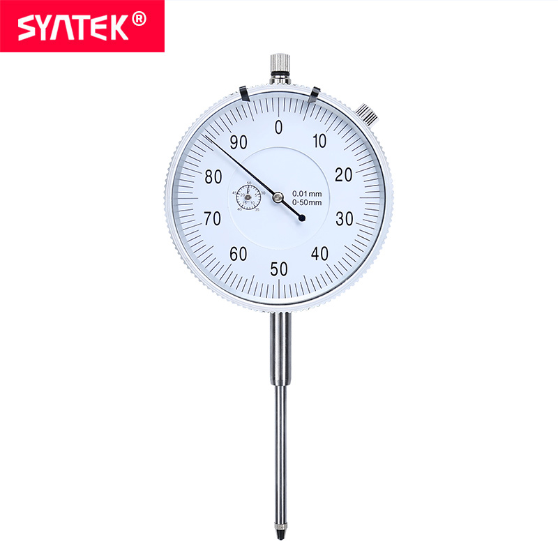 Syntek Dial Indicator 0 50mm High Accuracy 0 01mm Industry Analog Measuring Tool Metric Dial Test