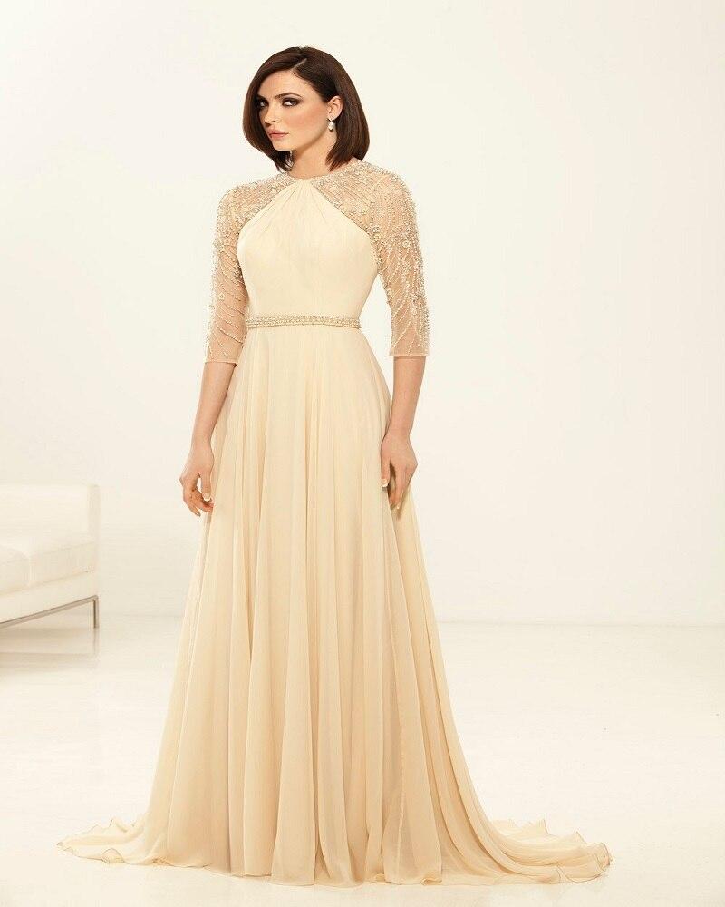 Elegant Luxury Mother Of The Bridal Dress 2016 O Neck