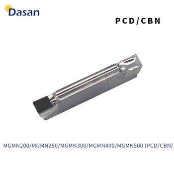 1 pc MGMN150 MGMN200 MGMN250 MGMN300 MGMN400 MGMN500 PCD CBN Draaisnijplaten CNC Diamond Draaibank Snijder Groovende Mes Tool