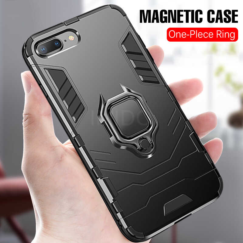 Luxury Armor Ring Soft Case On The For IPhone 6 6s 7 8 Plus XR X XS Max Phone Case Cover For IPhone XR XS Max Shockproof Case