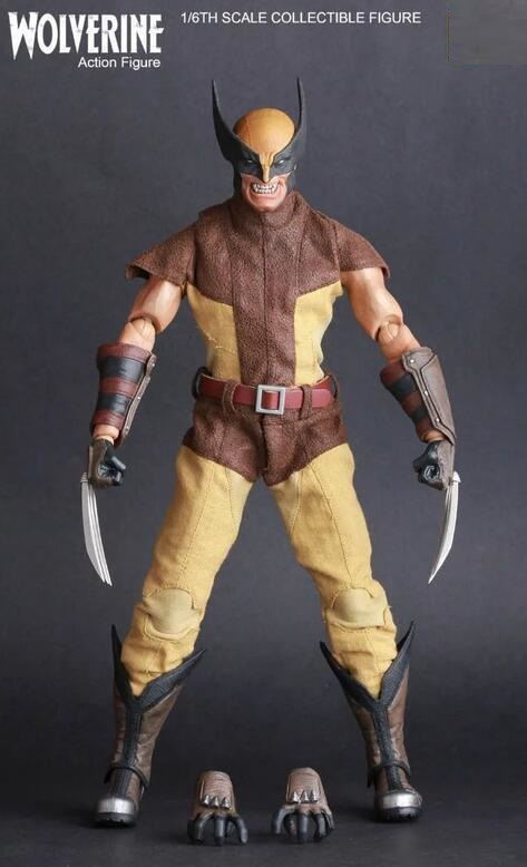26cm High Quality X-MAN Super Hero Wolverine PVC Action Figure Collectible Model Toy Christmas Gift 093 26cm crazy toys 16th super hero wolverine pvc action figure collectible model toy christmas gift halloween gift
