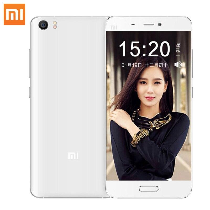 Цена за Оригинал xiaomi mi5 смартфон mi 5 snapdragon 820 3 ГБ ram 32 ГБ ROM 3000 мАч Dual Sim карта 4 К Видео Мобильные Телефоны Смартфон