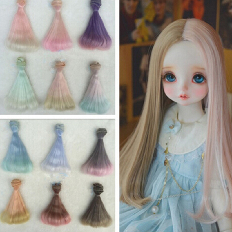 Conscientious High Temperature Heat Resistant Doll Hair For 1/3 1/4 1/6 Bjd Diy Curly Doll Wigs Fast Shipping 15 Cm Toys & Hobbies