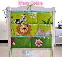 Promotion! Kitty Mickey Brand Baby Cot Bed Hanging Storage Bag Crib Organizer 60*50cm Toy Diaper bag Pocket for Crib Bedding Set