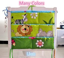 Promotion! Kitty Mickey Brand Baby Cot Bed Hanging Storage Bag Crib Organizer 60*50cm Toy Diaper bag Pocket for Crib Bedding Set(China)