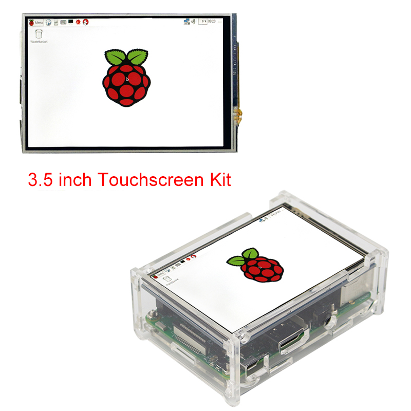 Raspberry Pi 3 Model B + 3.5'' inch LCD TFT Touch Screen Display + Acrylic Case + Touch Pen Compatible with Raspberry Pi 3 7 inch raspberry pi 3 lcd display touch screen lcd 1024 600 hdmi tft monitor acrylic case compatible with rpi 2 b