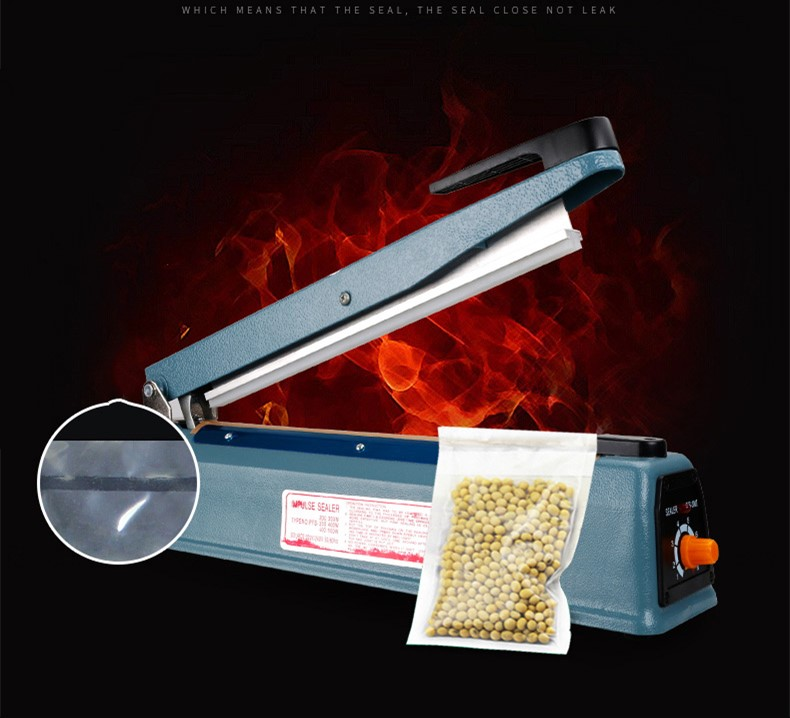 Free Shipping 220V Manual Plastic Film Sealer Heat Impulse Sealer Poly Bag Plastic Film Sealing Machine Pure Copper Transform