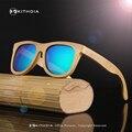 Ezreal 2017 retro de madeira de bambu óculos de sol das mulheres dos homens grife esporte óculos de proteção óculos de sol espelho de ouro tons luneta óculo