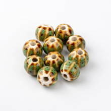 Watermelon Shape Sphere Ceramic beads  not hama  string Specail Ceramic Beads 10pieces/lot #HY420