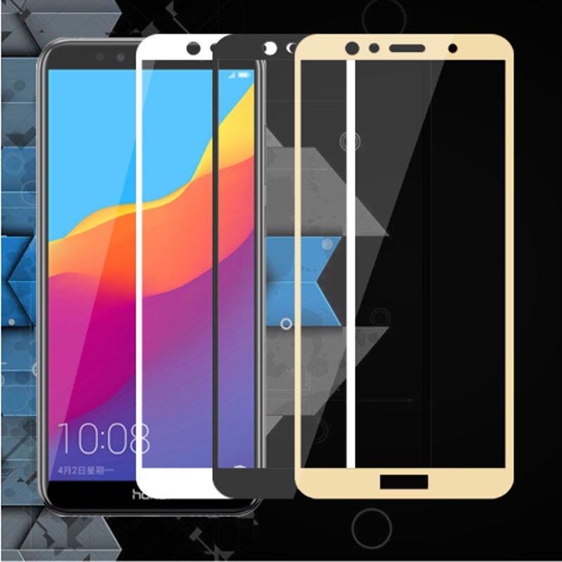 Image 5 - 3D Protective Glass On Honor 7A 7C Pro Safety Tempered  Film Glass For Huawei Honor On 7C 7A Pro Screen Protector Full Cover-in Phone Screen Protectors from Cellphones & Telecommunications