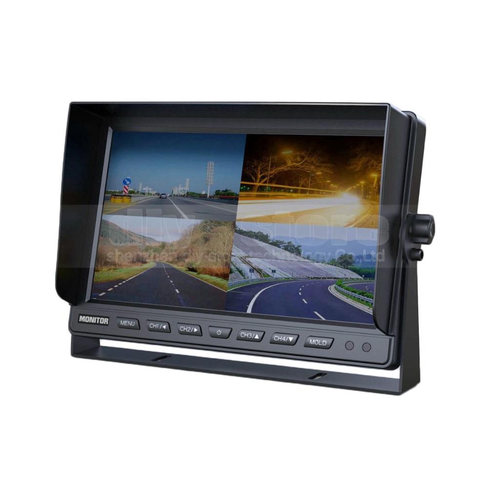 все цены на  DIYSECUR DC12V-24V 10 Inch 4 Split Quad LCD Screen Display Color Video Security Monitor for Car Truck Bus CCTV Monitor  онлайн