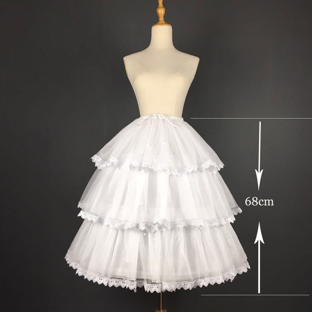 Sweet Boned Short Two Way Petticoat Lace Trimmed A line/Ball Gown Pettiskirt