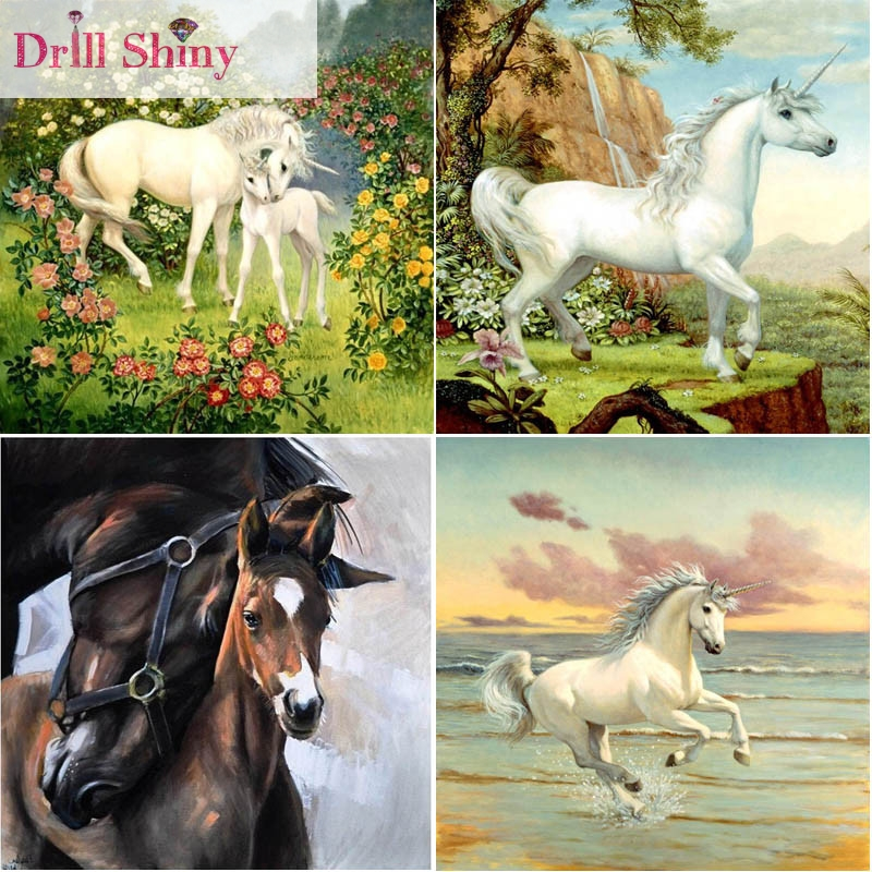 horse serise 3D Diy diamond painting rhinestone square full crystal mosaic crafts handmade embroidery wall decor cross stitch