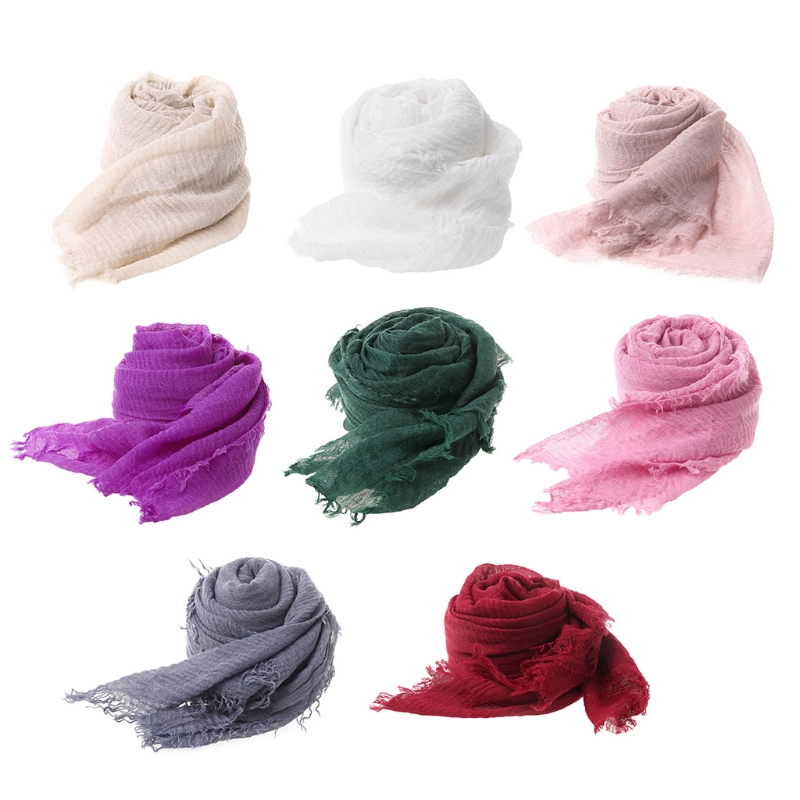 Soft Tassels Scarf Fabric Baby Photography Prop Filling Newborn <font><b>Cheesecloth</b></font> <font><b>Wrap</b></font> Photography <font><b>Wrap</b></font> for wrapping swaddling image