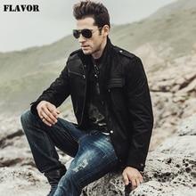 FLAVOR Men's Motorcycle Genuine leather jacket
