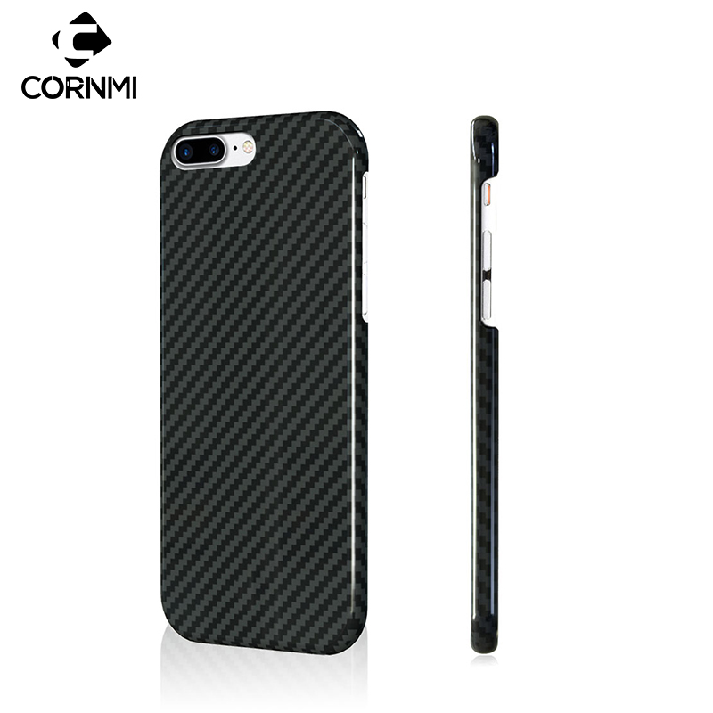 CORNMI 100 Real Carbon Fiber Case For iPhone 8 Plus 7 Plus 7 8 Cover Phone