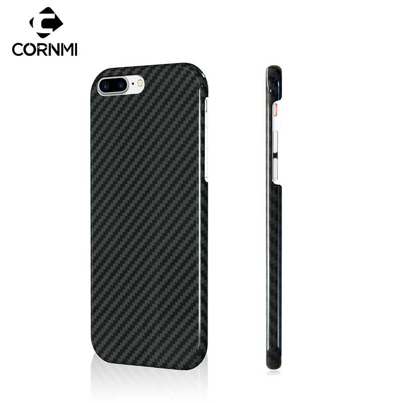 CORNMI 100% Real Carbon Fiber Case For iPhone 8 Plus 7 Plus 7 8 Cover Phone Case Luxury Ultra Thin Back Shell Housing