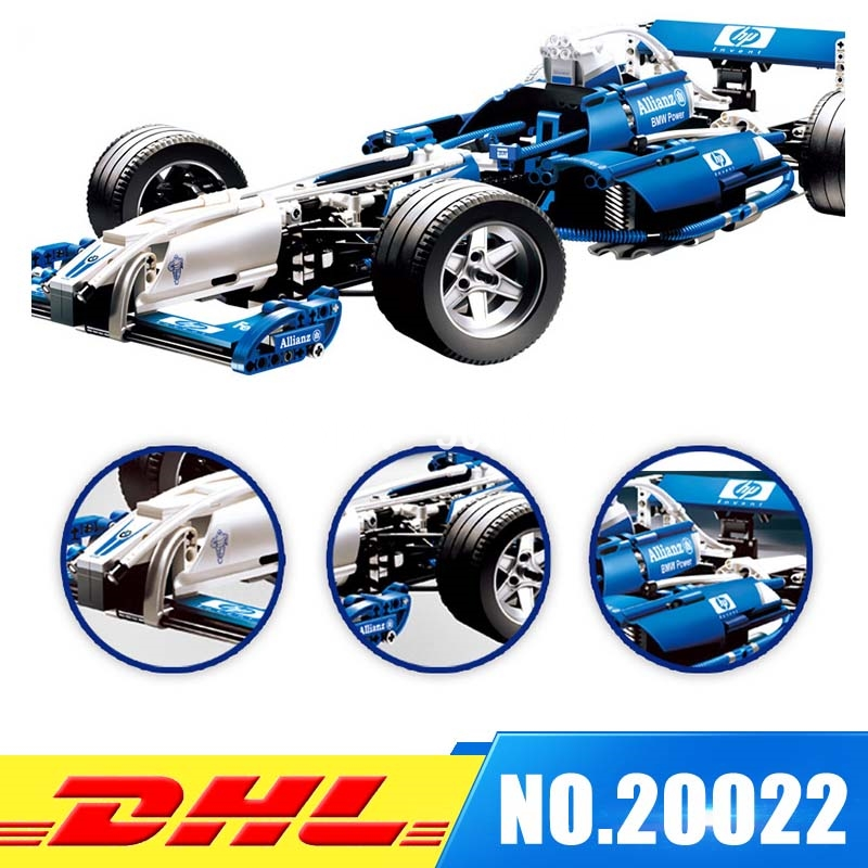 Lepin 20022 1586Pcs Genuine Technic Series The Williams F1 Team Racer Set Educational Building Blocks Bricks Toys Model 8461 lepin 20076 technic series the mack big