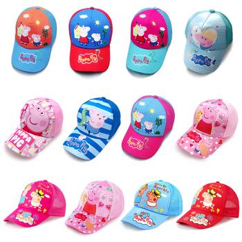 New Arrival 2019 świnka Peppa Anime rysunek kapelusz czapka dziecięca zaopatrzenie firm urodziny zabawki prezentowe dla dzieci tanie i dobre opinie Peppa Pig Model Żołnierz gotowy produkt Wyroby gotowe Unisex One Size Flannel peppa pig toys 52-58 cm Western Animiation