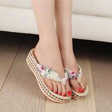Shoes Woman Slippers Footwear Sandals Slip Feminino Flip Flops Black Sweet Girl Sandal Female Spring Summer Wedge Black 2017 New