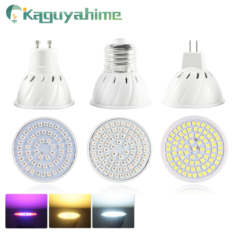 Kaguyahime LED MR16 GU10 E27 Bulb 220V LED Spotlight 2835 SMD Lamp LED Grow Light High Bright Spot Light Lampara Bombillas