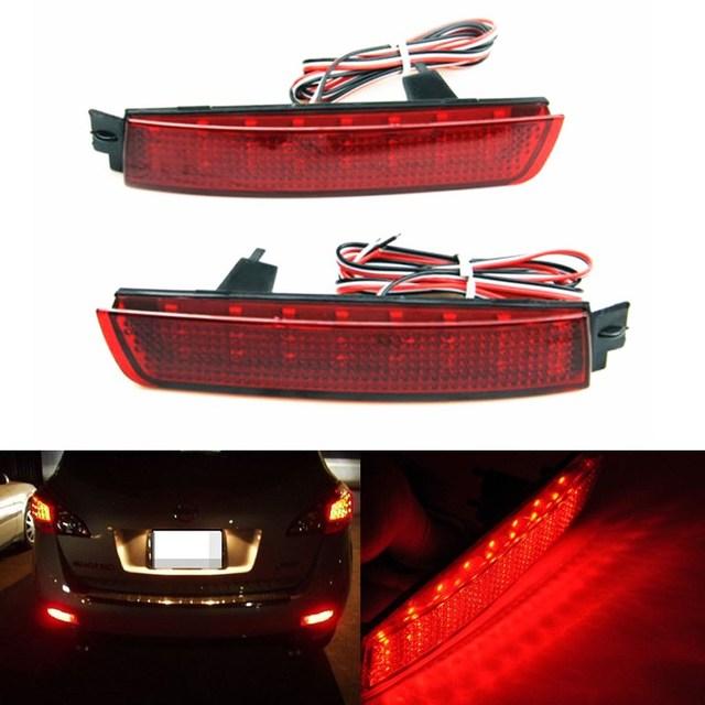 2x LED Vermelho Traseiro Refletor de Luz de Nevoeiro Da Cauda do Freio de Estacionamento lâmpada para Nissan Juke Murano da Quest Sentra Infiniti FX35 FX37 FX50