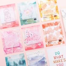 Decoration Memo-Pad Office-Decor Love-Sticky-Notes Flamingo Kawaii Creative Cute