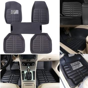 цена на 5Pcs/set universal grey car floor mats auto floor liner leather carpet mat