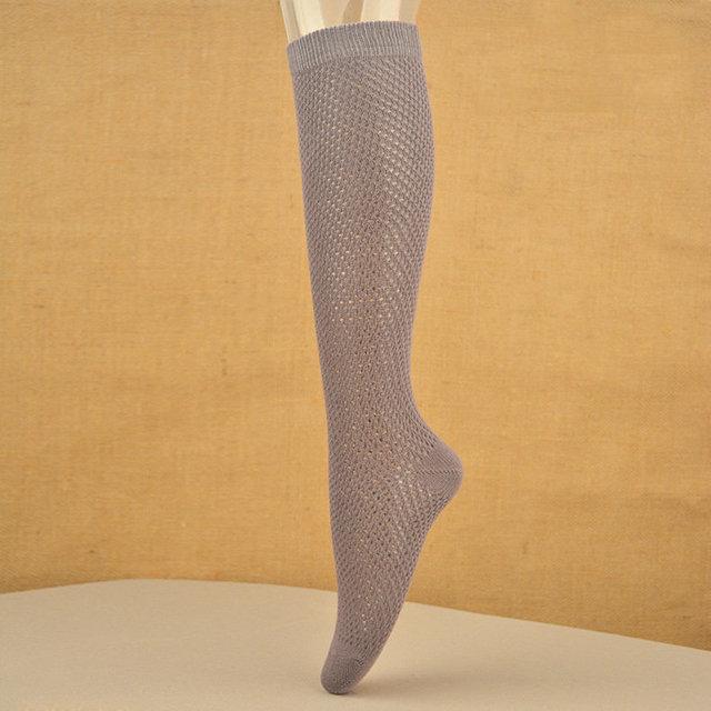 Escarpada atractiva Medias de Red de Rejilla de Malla de Algodón calcetines de las mujeres chica de moda Sobre la Rodilla Calcetines de Caña Alta Calcetines Gruesos medias