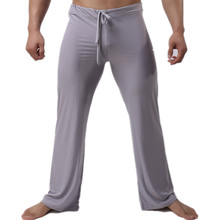 Sexy Men Long Pants Full Length Soft Light Weight Sleepwear Nightwear Pants Sexy Homewear Pants Long Trousers Loose Men Pants недорого