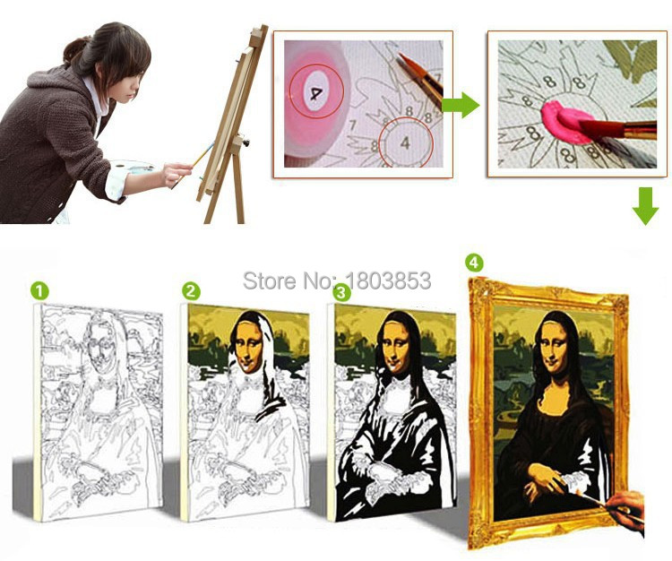 2015 new Animal wolf diy digital oil painting with Frame Acrylic Canvas Painting coloring by numbers Modern wal decor picture 13
