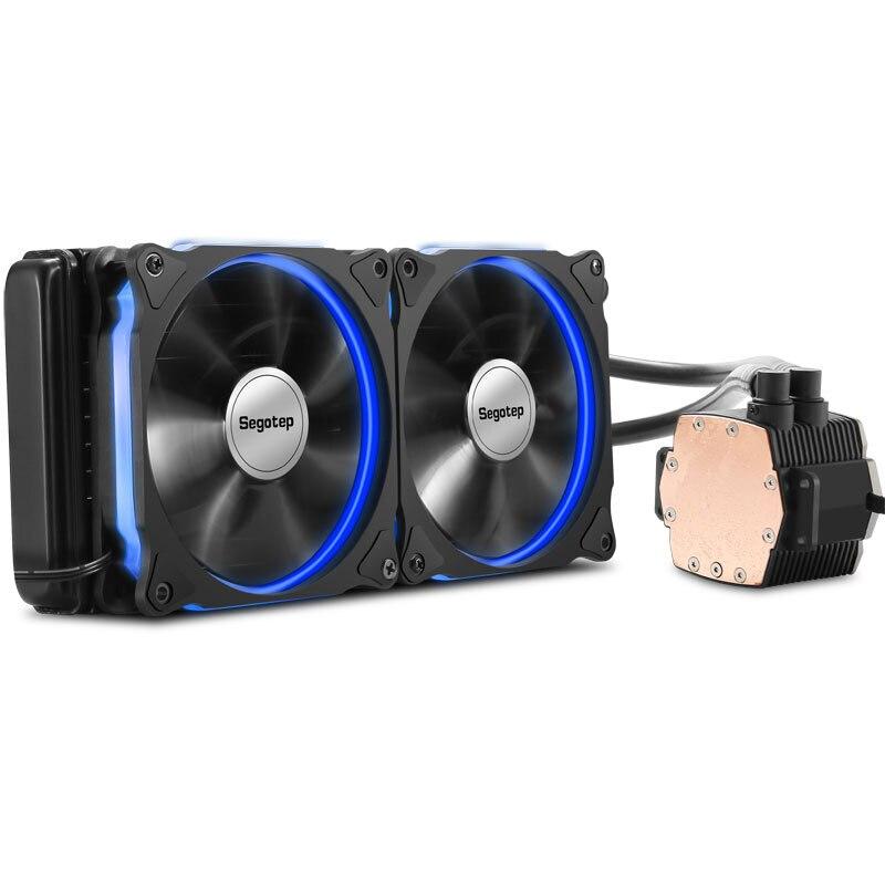 Aluminium CPU Water Cooler Radiator 240 Processor Double PWM 120mm LED Cooling Fan Liquid Water Cooling Cooler PC Case Desktop for asus u46e heatsink cooling fan cooler