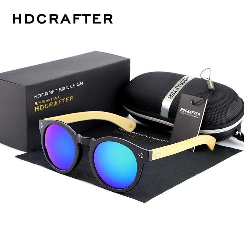 2017 HDCRAFTER Bamboo Sunglasses Men Women Wood Coating Aviator Polarized Sunlasses Brand Designer Oculos De Sol