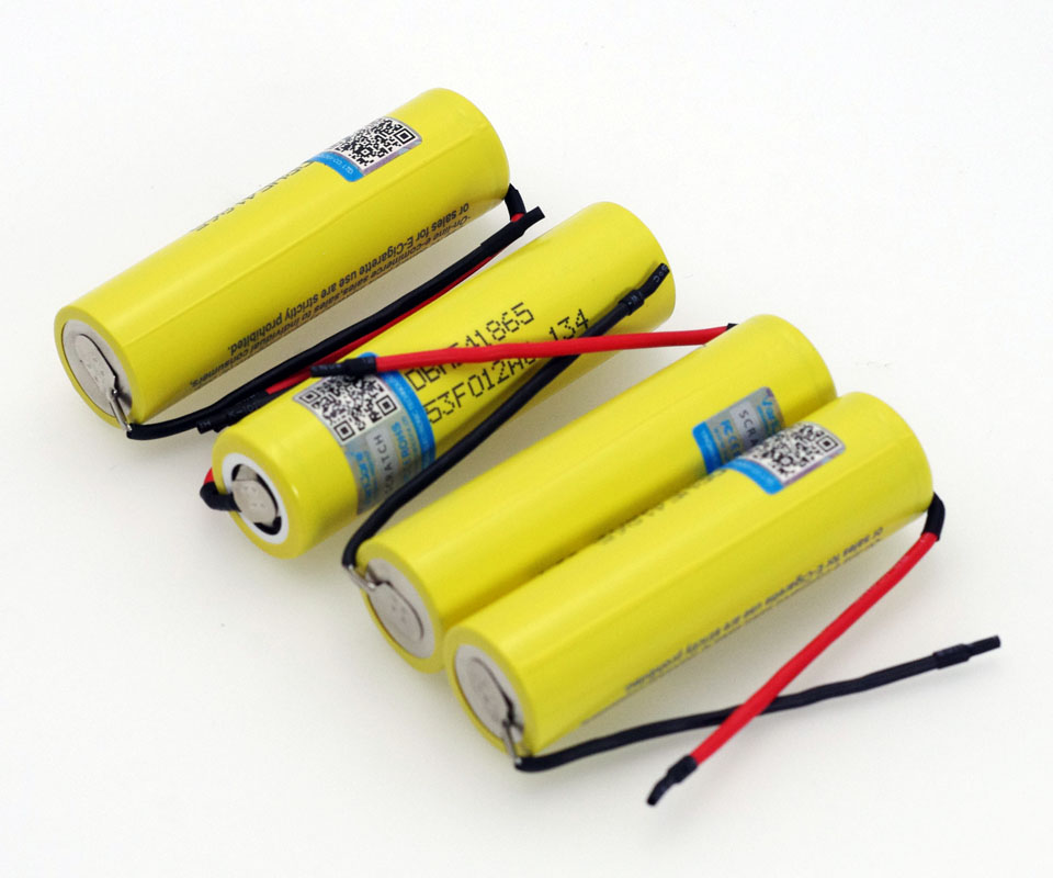 VariCore Original HE4 2500mAh Li lon Battery 18650 3 7V Power Rechargeable batteries 20A discharge DIY Silica gel Cable in Replacement Batteries from Consumer Electronics