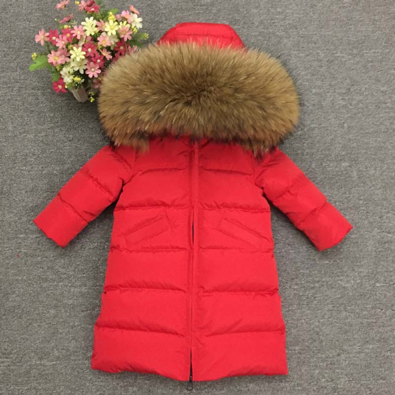 Girls Winter Jacket Size 10 European Style Parkas Extra Long Quilt Warm Duck Down Coats Snow