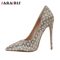 SARAIRIS Brand Design Big Size 34 43 Polka Dot Pointed Toe Thin High Heels Shoes Woman Casual Party Office Sexy Spring Pumps
