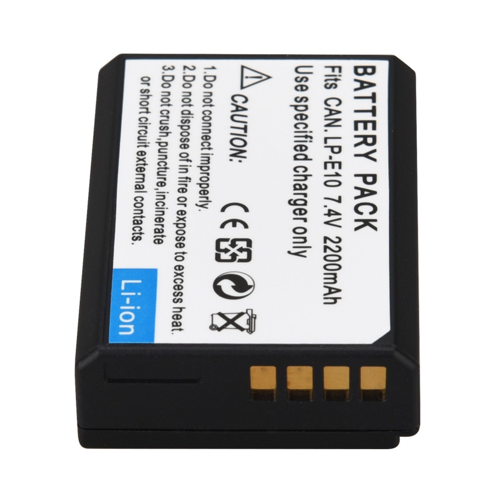 US $6 49 25% OFF|1pc 2200mAh LP E10 LP E10 LPE10 Digital Camera Battery For  Canon 1100D 1200D 1300D Rebel T3 T5 KISS X50 X70 Battery-in Digital