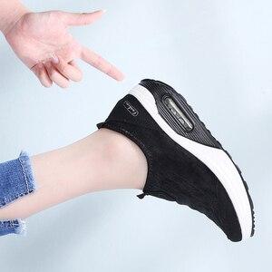 Image 5 - STQ 2020 סתיו נשים שטוח פלטפורמת סניקרס נעלי נשים לנשימה רשת נעליים יומיומיות להחליק על פלטפורמת מטפסי נעלי 7666