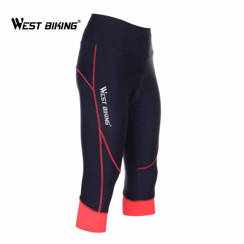 WEST BIKING Women Racing Underwear 3D Pad Cycling Shorts Coolmax Fabric Tight Riding Clothes Pirate  MTB Road Ladies Short Pants